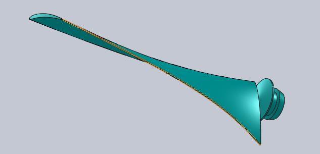 Fan Blade Design : The new fan design aero hovercraft racing